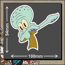 Squidward Dabbing Sticker Decal Funny JDM Drift Dab Vinyl Car Truck Boat Bike
