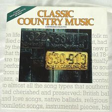 Classic Country Music: Smithsonian Collection 4 Cassette Set 100 Tracks 1990