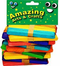 500 Lolly Lollipop Craft Sticks Assorted Colours by Amazing Arts and Crafts