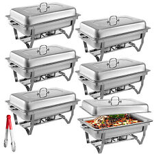 6Pack Chafer Catering Chafing Dish 8 QT Buffet Server Rectangular Food Pan