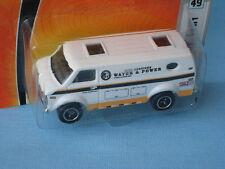 Matchbox Chevy Van Van de servicio de alimentación de agua juguete de cuerpo blanco modelo de coche en BP
