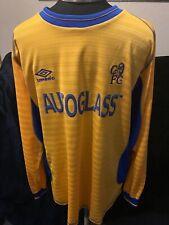 Chelsea Football Club 2000 - 2002 Autoglass Yellow Away Long Sleeve Size XL Rare