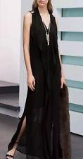 Gorgeous *NEXT* (size Uk 8) Black Chiffon Maxi Dress BNWT