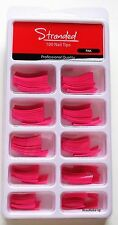 Stranded 100 Nail Tips Pack Pink