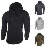 Men Winter Slim Hoodie Hooded Warm Sweatshirt Jacket Outwear Sweater Coat