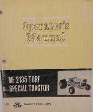Massy-Ferguson, Operator's Manual,  MF 2135 Turf Special Tractor...