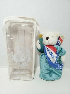"""Liberty 2000 Limited Edition 9"""" Jointed Bear New York Statue of Liberty Tag Bag"""