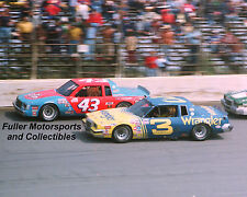 RARE DALE EARNHARDT SR #3 RICHARD PETTY #43 1981 8x10 PHOTO NASCAR WINSTON CUP