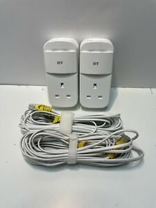 2 x BT Mini Connectors v2  1000Mbps Powerline Adapters Homeplugs With Cables