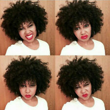 Peruvian Afro Kinky Curly Human Hair Weave Bundles Natural Color weft 4pcs/200g