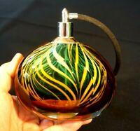Beautiful Large Vintage Art Glass Perfume Bottle