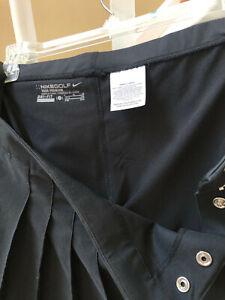Womens NikeGolf Tour Premium DRi-Fit Size 8 BLACK 0 Golf Skort