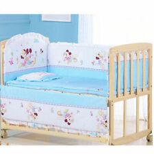 New 5Pcs Mickey Mouse Baby Crib Bed Bumper Newborns Bedding set Washable Cotton