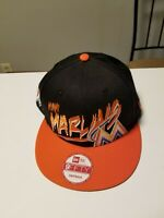 New Era 9Fifty Miami Marlins MLB Snapback Hat, Bright Colors, Spellout Lettering