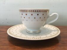 2 Piece Laura Biagiotti Paolina Pattern Fine Designer China Coffee Cup & Saucer