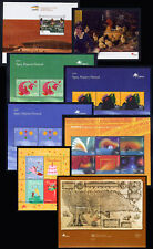 2001 Portugal, Azores, Madeira Complete Year MNH. 12 Souvenir Sheets, Blocks.