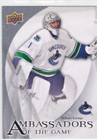 10/11 UD..ROBERTO LUONGO..AMBASSADORS OF THE GAME.# AG-15..CANUCKS.COMBINED SHIP