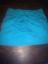 Womens White Stag 100% Cotton Aqua Skort Shorts Skirt Size 14