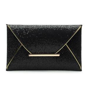 Glitter Envelope Clutch Handbag Evening Bag