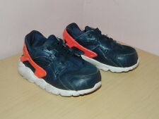 baby navy blue Nike Huarache slip on shoes trainers size uk 5.5 eur 22 VGC