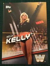 2016 Topps WWE Diva Revolutions Gold 5X7 Card Kelly Kelly #/10