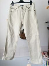 "Wrangler ~ neutral color thick cotton tuf straight leg zip fly jeans 34""W x 30""L"