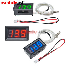 Digital Led Display K Type Thermocouple Temperature Meter Dc 12v Thermometer