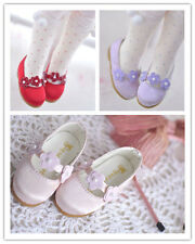NEW 1/6 BJD Shoes 3 color (Purple / Red / Pink)BJD Shoes Real silk Flower shoes