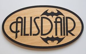 BATMAN Wooden Personalised Name Plaques Words/Letters Wall/Door Art/craft/Sign