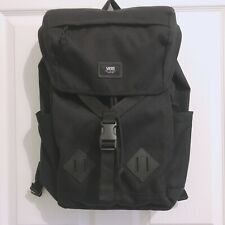 New Vans Off the Wall Black Backpack Scurry Rucksack Laptop Bottle Compartment
