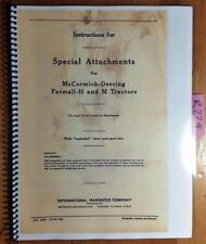 IH International McCormick Deering Farmall H M Tractor Special Attachment Manual