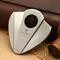 COHIBA Pocket Double Blades Stainless Steel Cigar Cutter JT064