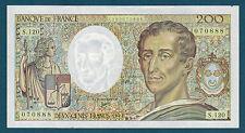FRANCE - 200 FRANCS MONTESQUIEU Fayette n° 70.12b de 1992 en SUP S.120 070888