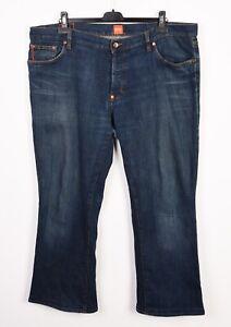 HUGO BOSS Orange Regular Men's Blue Jeans W42 L30 Denim Trousers 42x30 Straight