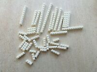 Lego:Lot de briques blanches en vrac Dims:1x4 1x6 1x10 | Mix of white brick