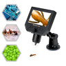 """Portable 1-600X 4.3"""" LCD USB Digital Microscope Magnifier LED For PCB Soldering"""