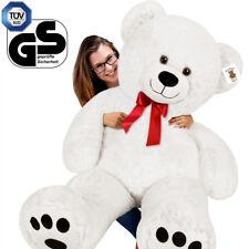 Grand Nounours Géant Ours En Peluche Ourson XXL 150 cm Teddy Bear Blanc