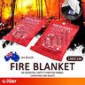 Fire Blanket 1.8 1 x 1 Meter Fire Blanket Fiber Sign Glass House Caravan Camper