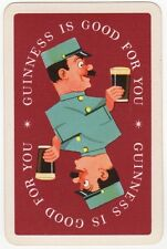 Playing Cards 1 Swap Card - Old Vintage GUINNESS Stout Beer UNIFORM MAN + PINT