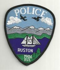 RUSTON WASHINGTON  POLICE PATCH /