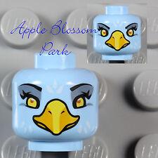 NEW Lego Light BLUE MINIFIG BIRD HEAD Chima Eris Female w/Yellow Beak Eagle Eyes