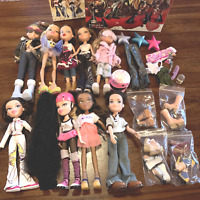 Lot of Bratz Dolls Boyz Clothing Accessories Shoes Boots Game DVD Dressed