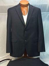 * Jack Victor Select * Black/Blue Stripe 100% Wool Suit 39R STUNNING! MINT!
