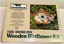 Vintage Greenleaf  Swiss Inn Wooden Bird House Kit Build Your Own McM
