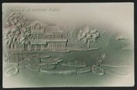 1906 Chicago to Springfield Illinois Scene Lincoln Park Embossed Postcard Cover