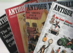 4 x ANTIQUE TOY WORLD Magazines: December 1997, April, May & June 1998