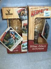 Ridge Top RedNeck Wine Glass & Priorities Coaster (2)