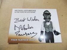 GERRY ANDERSON FOUR FEATHER FALLS NICHOLAS PARSONS NP2 AUTOGRAPH CARD DAN MORSE