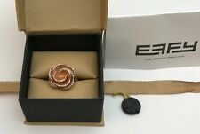 EFFY BH Diamond Rose 14kt Pink Gold Ring in box 6.5