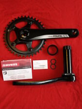 SRAM Rival 1 Chainset Gravel Road 172.5mm BB30 30mm Axle One-By Crankset 38t 11S